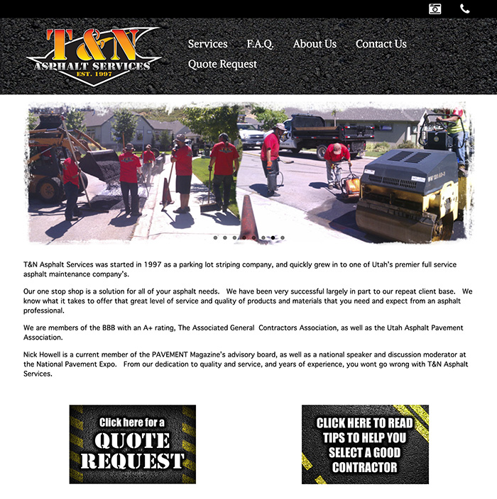 T&N Asphalt Homepage